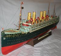 Free download, 1910`s Crown Princess Cecilie Steam Cruise Ship Paper Model - by AGK Kartonmodellbau