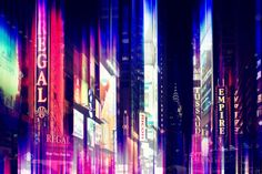 Urban Stretch Series - Times Square by Night - Manhattan - New York Photographic Print by Philippe Hugonnard at AllPosters.com