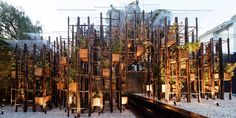 Explore seven more examples of the ways bamboo can be cut, twisted, bent and constructed to create innovative works of architecture.