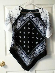 My first bandana shirt, pattern based on raglan sleeved t-shirt.