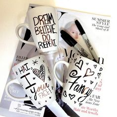 New! DIY SHARPIE MUG! I've been meaning to make my own customized coffee mugs for months! All you need is a mug + sharpie, draw, and bake at 350* for 30 mins! VOILA! Super easy and incredibly affordable to make. Make them as gifts or even for yourself, enjoy! #FancyMade #DIY #Tutorial #Handmade#SharpieMug #Coffee #CoffeeMug #GiftIdea #Pinterest #Inspired