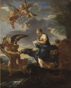 Carlo Maratta, Italian, Camerano, active in Rome, 1625—1713. The Flight into Egypt,  ca. 1700. Oil on canvas, 78.4 x 63.5cm (30 7/8 x 25in.)