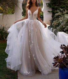 Magnificent Moonlight Couture is a heart-shaped tulle wedding dress with a . Great Moonlight Couture is a heart shaped tulle wedding dress with a . # is shaped Designer wedding dresses with sleeves . V Neck Wedding Dress, Pink Wedding Dresses, Luxury Wedding Dress, Backless Wedding, Princess Wedding Dresses, Bridal Dresses, Prom Dresses, Gown Wedding, Sexy Dresses