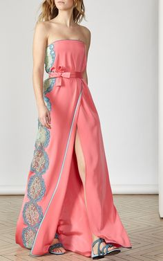 Strapless Column Gown by Alexis Mabille
