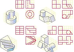 Orthographic Drawing, Technical Drawing, Doodle Drawings, Autocad, Doodles, Diagram, Education, Gd, Classroom