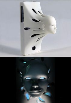 So creepy! Oddly I can't help but love it. It's a case that forces you to use Siri.