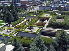 Dan Kiley collaborated with Kevin Roche, John Dinkeloo and Geraldine Knight Scott to produce the rooftop landscape for the Oakland Museum of Art. The garden sits on 3 levels that descend from north to south, offering views of the surrounding city from terraces and balconies which culminate in a below-grade sunken courtyard. In 2013 TCLF will produce a special retrospective of Kiley's life and work. Learn more about his legacy here…
