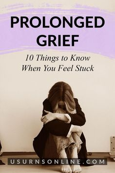 Is your loved one stuck in grief? Here are ten things to know about prolonged grief and helpful tips on how to be there for them. #prolongedgrief #griefandloss Dealing With Grief, Grief Loss, Things To Know, Helpful Hints, How Are You Feeling, Facts, Memories, Feelings, Quotes