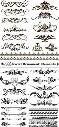 Vector Preto E Branco Black ornaments, frames, borders, monograms in . Art Deco Design, Wall Art Designs, Learn To Tattoo, Art Manga, Art Decor, Decoration, Carving Designs, Quilling Patterns, Graffiti