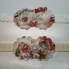 Baby Headband flower headbandbaby by ThinkPinkBows on Etsy