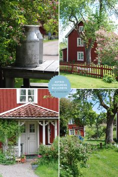 Yvestown - Smaland in Sweden Swedish Cottage, Red Cottage, Swedish House, Sweden Europe, Sweden Travel, Swedish Style, Scandinavian Style, Voyage Suede, Red Houses