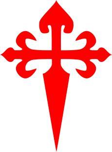 Cruz de la Ordem de Santiago (de Compostela) * (Leon y Castilla). Cruz da Ordem de Santiago da Espada (Espatarios) * (Portugal).