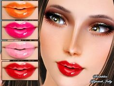 Sintiklia's creations: Lipstick Jelly for Sims 3