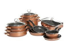 Набор кухонной посуды Full CopperLUX Delimano Cool Things To Buy, Cooking Recipes, Stone, Smart Buy, Food, Drinks, Kitchen, Cool Stuff To Buy, Drinking