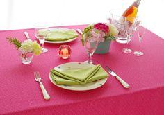 撥水加工 テーブルクロス キャンバス ピンク 130×170cm