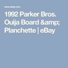 1992 Parker Bros. Ouija Board & Planchette | eBay