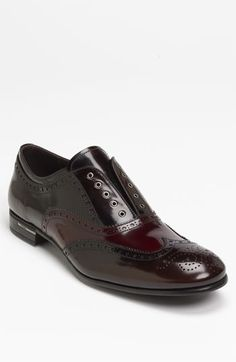 Prada Laceless Wingtip available at #Nordstrom