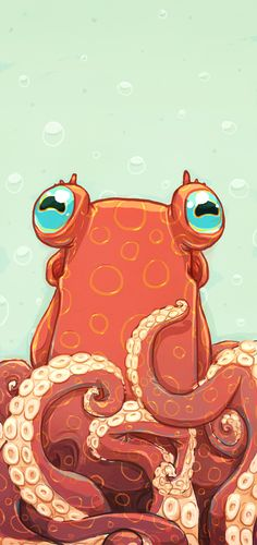 Goldie the Octopus Best Picture For Sealife Drawing illustration. Best Picture For Sealife Drawing Squid Drawing, Octopus Drawing, Octopus Painting, Cute Octopus, Octopus Print, Octopus Eyes, Octopus Octopus, Animal Drawings, Art Drawings