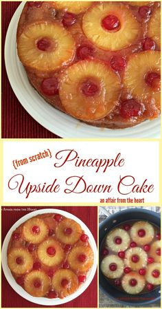 An Affair from the Heart | From Scratch Pineapple Upside Down Cake - This {from scratch} Pineapple Upside Down Cake will have you reminiscing your childhood. It's buttery sweet goodness will make you swoon!