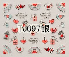 Aliexpress.com : Buy 1PC TJ097 Silver Nail Art Cute Gold Valentine's Day Sticker Nail Art Sticker from Reliable stickers rx8 suppliers on Symbols' Retail Store  | Alibaba Group