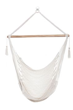 Hanging Hammock Chair Organic Cotton   Bright White