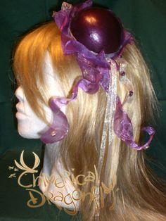 JELLYFISH' HAT FREESHIPPING Burlesque fantasy pink ribbon violet purple jellyfish mini top hat victorian steampunk renaissance. $85.00, via Etsy.