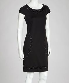 Take a look at this Black Stud Dress by eci New York on #zulily today!