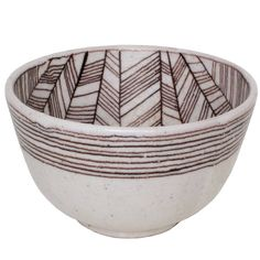 Very Large Signed Guido Gambone Studio Ceramic Bowl, Italy 1950s | From a unique collection of antique and modern bowls and baskets at https://www.1stdibs.com/furniture/decorative-objects/bowls-baskets/