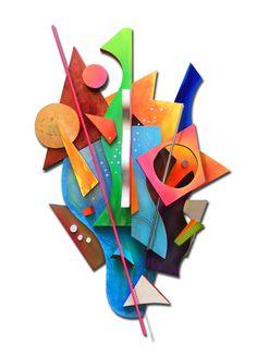 Clarity of The Role Cardboard Painting, Cardboard Sculpture, 3d Painting, Abstract Sculpture, Sculpture Art, Kandinsky Art, 8th Grade Art, Cubism Art, Jr Art