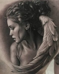What you guys think ? Tattoo Sketches, Tattoo Drawings, Body Art Tattoos, Sleeve Tattoos, Phenix Tattoo, Tattoo Off, Angel Artwork, Angel Drawing, Religious Tattoos