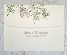 Tuscan Vineyard Bottles envelope. Inker's Workshop 2016