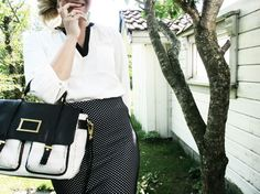 // Monique Lund // black // white // marc jacobs //
