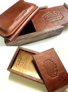 Personalized iPhone 5 wallet case in luxury wooden box by semofir, $178.00