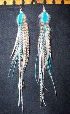 natural feathers earrings - Google Search