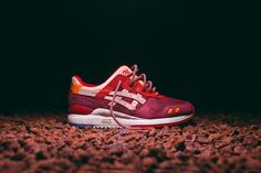 """The KITH x ASICS GEL-Lyte III """"Volcano drops tomorrow. To see what else is releasing this weekend, tap the link in our bio. Air Jordan, Adidas, Reebok, Nba, Asics Fashion, Baskets, Asics Tiger, Running Silhouette, Asics Gel Lyte Iii"""