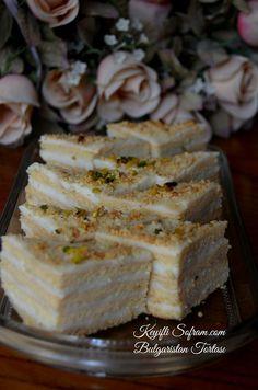 BULGARİSTAN TORTASI TARİFİ, TORTA NASIL YAPILIR ? İyi akşamlar , Bulgaristan Tortası ,bizim amonyaklı pastanın tarzında ...