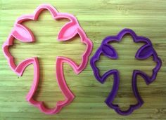 Fancy Cross Cookie Cutter - Choice of Sizes - 3D Printed Plastic #Handmade3DPrint