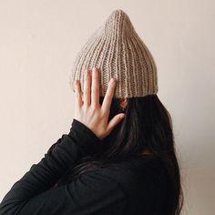 Simple ribbed hat KIT for beginner