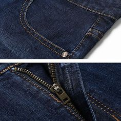 Business Stylish Casual Straight Leg Denim Slim Jeans for Men