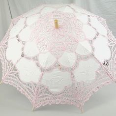 Image detail for -PINK Handmade Cotton Lace Parasol Umbrella for Bridal Wedding Umbrella ...