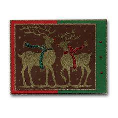 Embossed Reindeer Card
