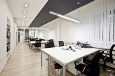 What Will Be the Major Office Furniture Trends in Linear Lighting, Lighting Design, Office Lighting, Prefab, Office Interiors, Office Furniture, Home Office, Inspiration, Home Decor