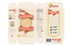 commercial cookie package design | Lemon Creme Cookie Box Re-design - Dare Foods on Behance