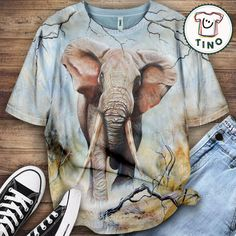elephant shirt Elephant Shirt, Mens Tops, Shirts, Fashion, Moda, Fashion Styles, Dress Shirts, Fashion Illustrations, Shirt