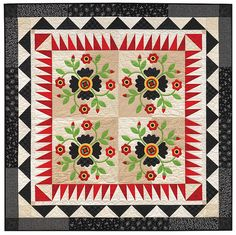 Beautiful Rose of Sharon quilt