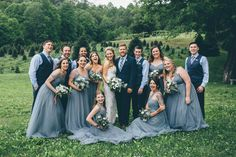Alex and Antonio had the sweetest and most fun group of friends as their bridal party and they were seriously squad goals! Groomsmen Outfits, Groom And Groomsmen Attire, Blue Groomsmen Suits, Navy Suits, Navy Bridal Parties, Blue Bridal, Bridal Party Poses, Navy Bridesmaid Dresses, Bridesmaids And Groomsmen