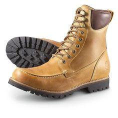 Save $95.01 Men's #Timberland® Earthkeepers™ Waterproof Moc - toe #Boots, Golden Beige $185.00 now $89.99