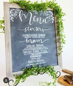 I adore this menu by @bloom.designs.  The greenery I brought to adorn the signs matched perfectly with her already printed designs.  #collaboration at it's finest! Photography: @serendipityphotographyllc Florals: @alibdesigns Coordination: @peachykeencoordination  Calligraphy: @bloom.designs  Venue: @flinn_block_hall  Jewelry: @meghandonahuejewelry Stationary: @brushandwillow Dress: @merrime_bridal Catering: @wildpearrestaurant  @glamgirl.designs  Rentals & decor:@dannerandsoli