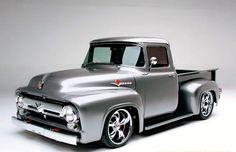 old ford trucks 56 Ford Truck, Old Ford Trucks, Pickup Trucks, Diesel Trucks, Ford Diesel, F100 Truck, Hot Rod Trucks, Cool Trucks, Cool Cars