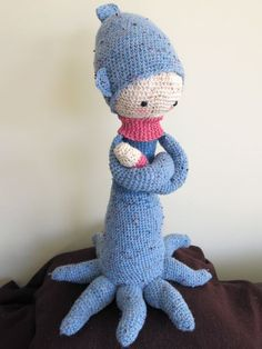 OLEG the octopus made by Ariane D. / crochet pattern by lalylala